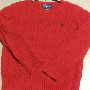 Ralph Lauren Polo Boys Red Sweater Sz. 6